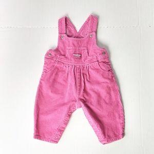 Vintage OshKosh B'Gosh Bib Overalls Pink 6-9 mo